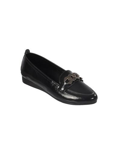 Mhd 2674 Z.Ayk Platin  Kadın Günlük Ayakkabı Siyah